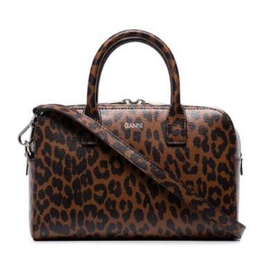 Leopard Patterns Casual Style Calfskin 2WAY Shoulder Bags