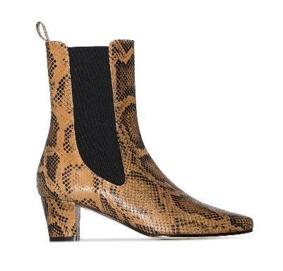 Casual Style Street Style Leather Block Heels Python