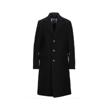 DIESEL Wool Plain Long Street Style Chester Coats