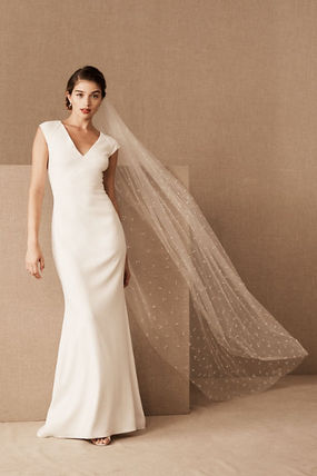 BHLDN Blended Fabrics Plain Wedding Accessories