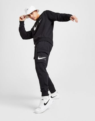 Nike Sweat Street Style Collaboration Bi-color Plain Logo