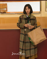 Since Then Other Plaid Patterns Casual Style Blended Fabrics Medium