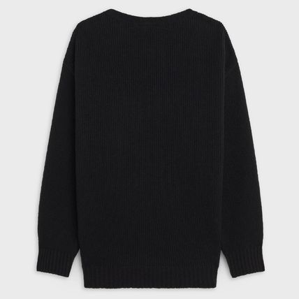 CELINE Sweaters Crew Neck Pullovers Wool Cashmere Blended Fabrics 4