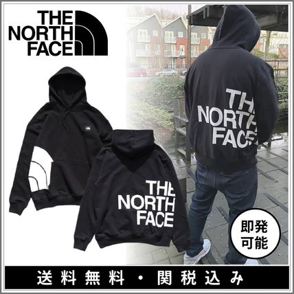 THE NORTH FACE Hoodies Pullovers Long Sleeves Plain Cotton Logo Outdoor Hoodies