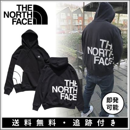 THE NORTH FACE Pullovers Long Sleeves Plain Cotton Logo Outdoor Hoodies