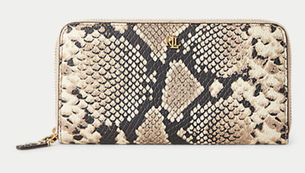 Ralph Lauren Leather Python Long Wallet  Logo Long Wallets