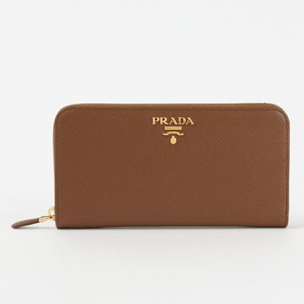 PRADA Plain Leather Long Wallet  Long Wallets
