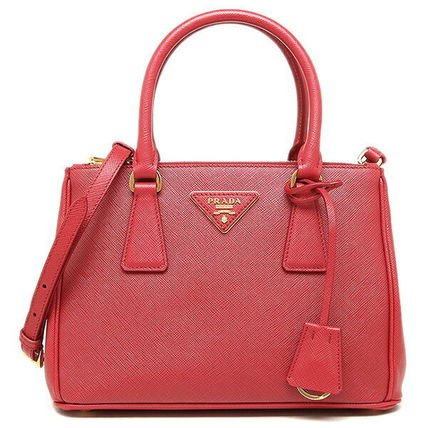 PRADA SAFFIANO LUX 2WAY Plain Leather Elegant Style Handbags