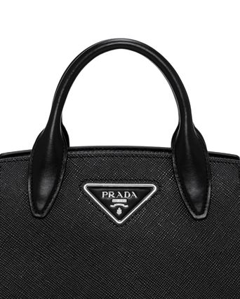 PRADA Saffiano 2WAY Leather Handbags
