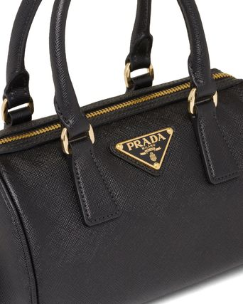 PRADA Saffiano 2WAY Leather Logo Handbags