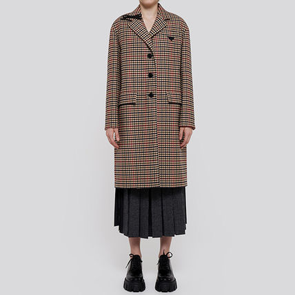 PRADA Short Other Plaid Patterns Casual Style Wool Street Style