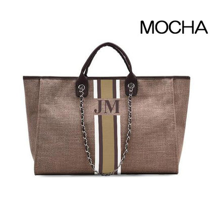 Casual Style Plain Office Style Totes