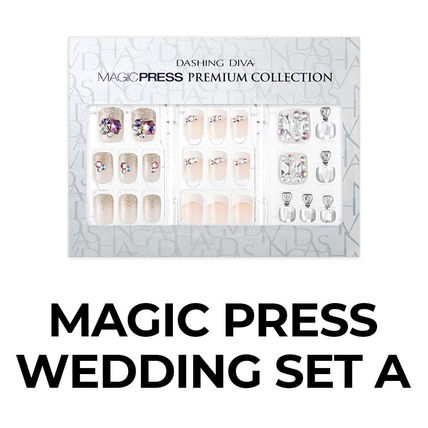 DASHING DIVA Tips With Jewels Glitter Co-ord Bridal Hand & Nail Care