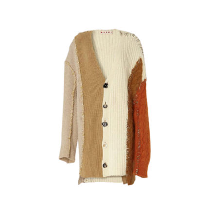 MARNI Casual Style Cashmere Long Sleeves Office Style