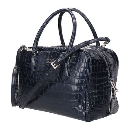PRADA INSIDE BAG Casual Style Crocodile Street Style Bag in Bag 2WAY