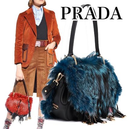 PRADA Fur Other Animal Patterns Leather Party Style Elegant Style