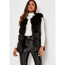 Missguided Short Casual Style Faux Fur Plain Medium Party Style