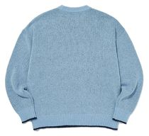 AMES-WORLDWIDE Sweaters Crew Neck Pullovers Unisex Street Style Long Sleeves 12