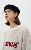 AMES-WORLDWIDE Sweaters Crew Neck Pullovers Unisex Street Style Long Sleeves 13