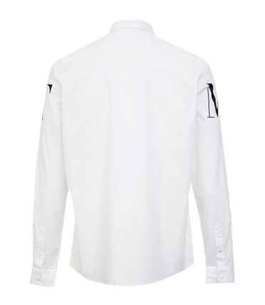 Long Sleeves Cotton Logo Shirts