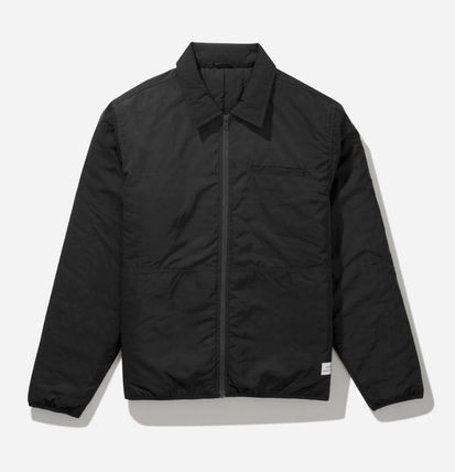 Nylon Street Style Plain Nylon Jacket  Logo Jackets