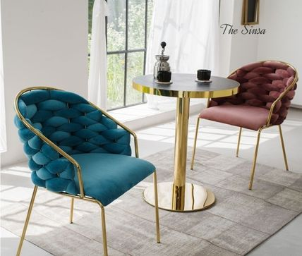 Gold Furniture Table & Chair
