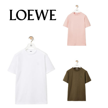 LOEWE U-Neck Cotton Short Sleeves Logo T-Shirts