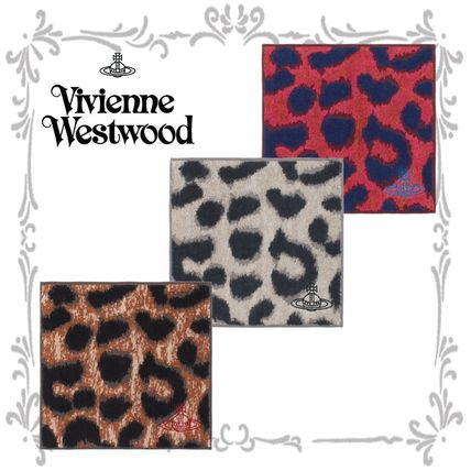 Vivienne Westwood Leopard Patterns Street Style Cotton Logo Handkerchief