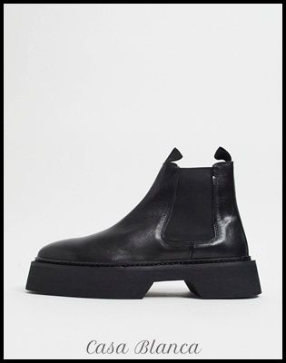 ASOS Plain Leather Street Style Chelsea Boots Chelsea Boots