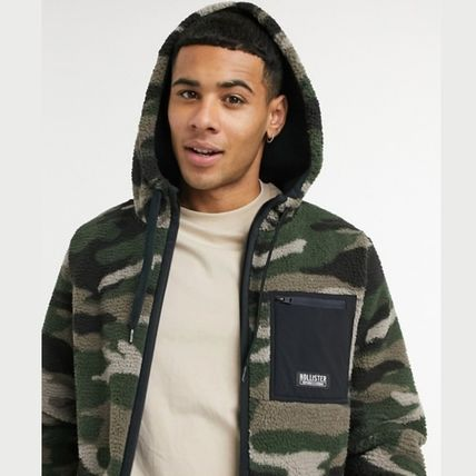 Camouflage Long Sleeves Shearling Military Hoodies
