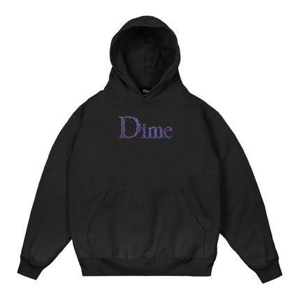 Dime Hoodies Pullovers Street Style Long Sleeves Plain Cotton Logo 8