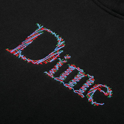 Dime Hoodies Pullovers Street Style Long Sleeves Plain Cotton Logo 9