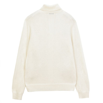 Wool Cashmere Long Sleeves Plain Sweaters