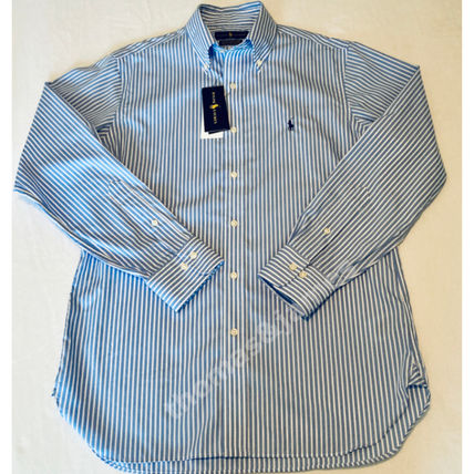 POLO RALPH LAUREN Shirts Button-down Stripes Long Sleeves Cotton Surf Style Shirts 2