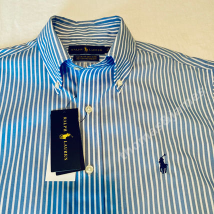 POLO RALPH LAUREN Shirts Button-down Stripes Long Sleeves Cotton Surf Style Shirts 3