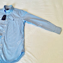 POLO RALPH LAUREN Shirts Button-down Stripes Long Sleeves Cotton Surf Style Shirts 10