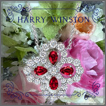 Harry Winston Costume Jewelry Casual Style Flower Party Style Platinum