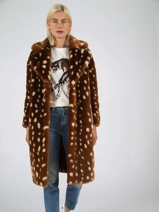 Casual Style Unisex Faux Fur Other Animal Patterns Long