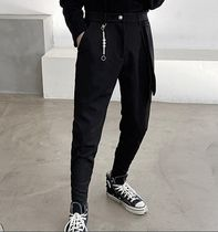 Tapered Pants Plain Street Style Tapered Pants