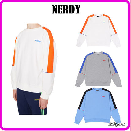 NERDY Sweatshirts Unisex Street Style Long Sleeves Cotton Sweatshirts