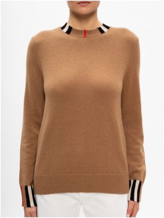 Burberry Crew Neck Cashmere Long Sleeves Cashmere