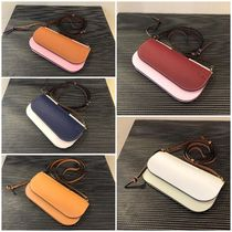 LOEWE GATE Casual Style Bi-color Plain Leather Party Style Office Style