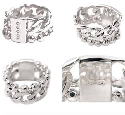 GUCCI Casual Style Silver Rings