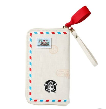 STARBUCKS Casual Style Canvas Logo Clutches