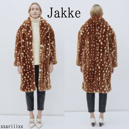 Casual Style Faux Fur Other Animal Patterns Long