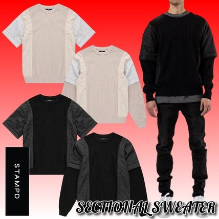 Stampd' LA Sweaters Crew Neck Pullovers Blended Fabrics Street Style