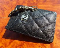 CHANEL TIMELESS CLASSICS Unisex Leather Card Holder Card Holders
