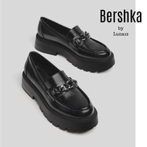 Bershka Casual Style Chain Plain Loafer & Moccasin Shoes