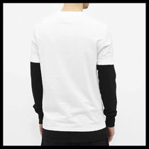 NeIL Barrett Crew Neck Crew Neck Plain Cotton Short Sleeves Logos on the Sleeves 4