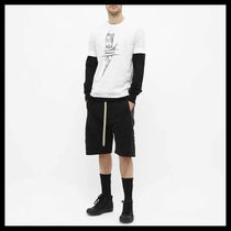 NeIL Barrett Crew Neck Crew Neck Plain Cotton Short Sleeves Logos on the Sleeves 5